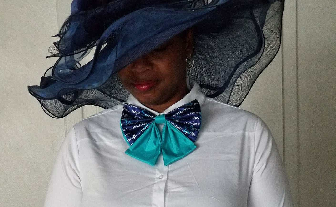Candace in blue hat