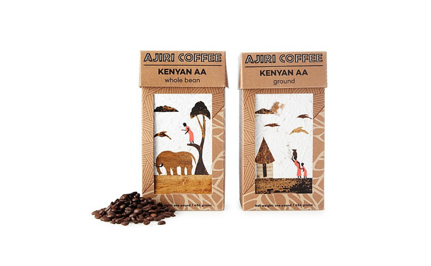 bags of coffee w/ illustrations