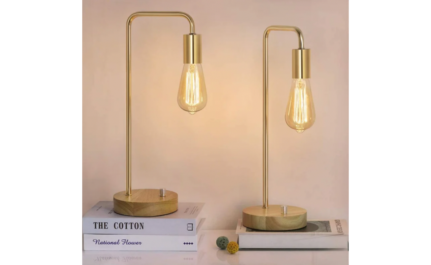 """Dustin 16.9"""" Gold Arched Table Lamp Set"""